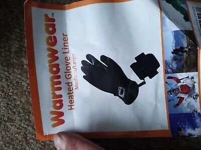 Warmawear Battery -( AAx3) Heated Deluxe Glove Liners Medium/Large Battery Heated Glove Liners