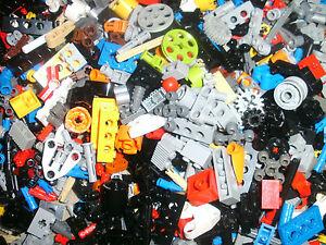 LEGO TECHNIC 100 SMALL PIECES RANDOM MIX RODS,CONNECTORS,PINS,WHEELS,GEARS,COGS