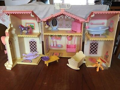 W@W!! Reduced MLP My Little Baby Pony House -rare- Vintage -*TONS* of stuff!