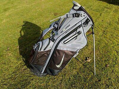 Nike Air Hybrid Golf Stand Bag - 14 Way Divider - Grey / Black