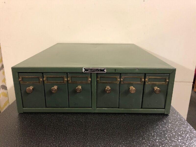 Vintage Industrial Metal Paragon Tray Drawer Organizer Cabinet 6 Drawer