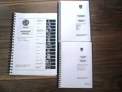 ~PRINTED~ MGTF  Workshop Manual with BONUS Gearbox & Engine Manuals