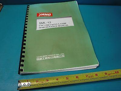 Used Yang Sml-12 Cnc Chucking Lathe Maintenance Manual