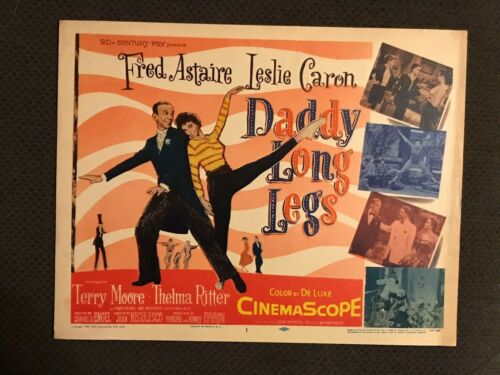 Daddy Long Legs     - Original Movie Title Card -  Leslie Caron - Fred Astaire