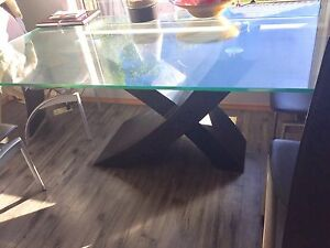 Beautiful Glass table chairs and end tables
