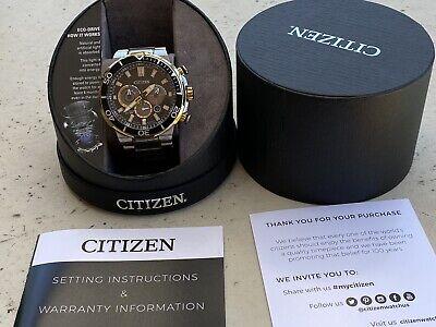 Citizen Eco-Drive CA4258-87E Brycen Men's 46mm Two-Tone S/Steel Chrono Watch