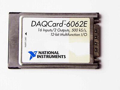 National Instruments Daqcard-6062e Ni Daq Pcmcia 12-bit Io Card