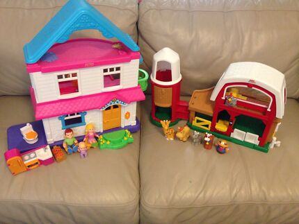 Fisher Price - House and Farm Barn sets