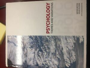 Psychology Themes and Variations 5th edition (1 year psych book)