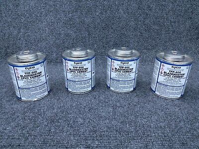 4 Cans Pint Tyco Blazemaster Cpvc Cement Tfp-600 90766 Fire Sprinkler Systems