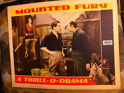 Mounted Fury 1931 World Wide western lobby card Blanche Mehaffey John Bowers