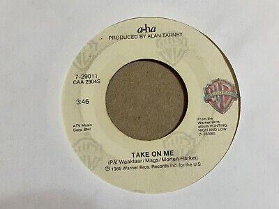 "a-ha Take On Me / Love Is Reason 7"" 45 rpm Warner Bros VG+"