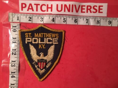 VINTAGE ST. MATTHEWS  KY  POLICE  SHOULDER PATCH  G020