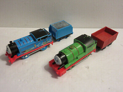 THOMAS & FRIENDS TRACKMASTER GLOW IN THE DARK THOMAS & PERCY TENDER GREAT LOT