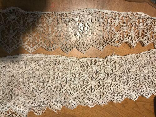 Vintage 4in wide 10 yard Lace, handmade? minor damage