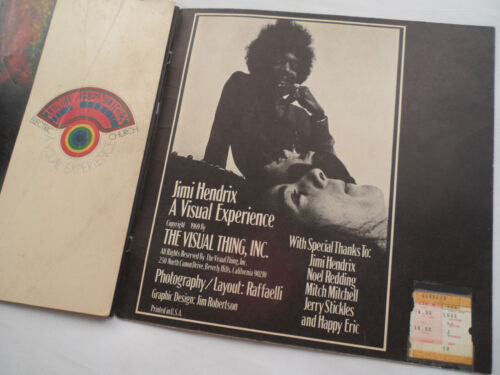 JIMI HENDRIX Original 1970 TICKET STUB & CONCERT PROGRAM__ Los Angeles