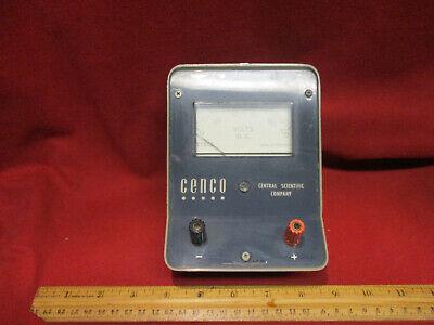Vintage 100vdc Amperes Meter Cenco Central Scientific Company 82420-5