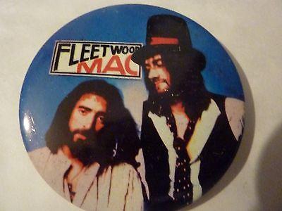 "FLEETWOOD MAC"" Vintage 1970's - 1980's Button Badge--- 2 ½ ""******"