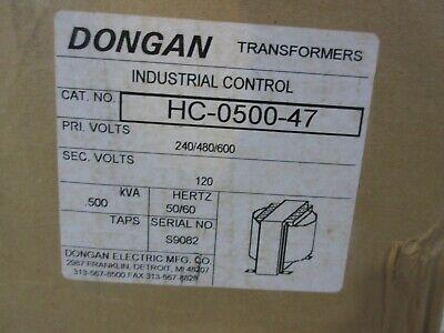 Dongan Transformer Hc-0500-47 Pri Volts 240480600 Sec Volts 120