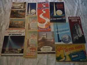 1939 new york worlds fair items collection of 14 various unusual
