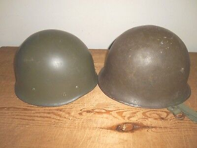 Vintage Original French Military Helmet with Liner