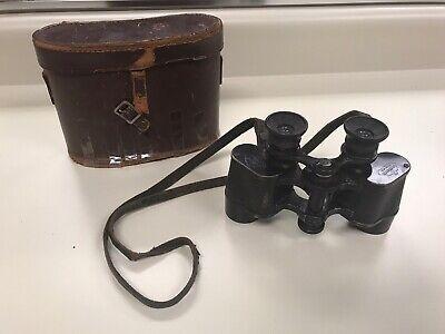 WW2 ERA German Binoculars Case G.Rodenstock Munchen - Lumar 8x27