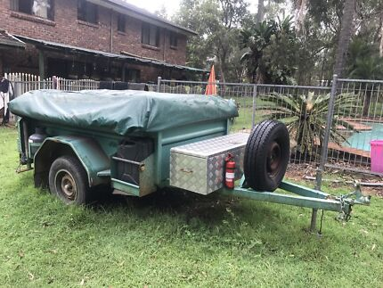 Camper trailer swap for a ride on mower