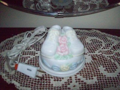 "Adorable Figi Graphics ""Sweet Baby"" Baby Shoes Table Lamp/Night Light"
