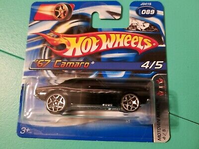 Hot Wheels '67 Camaro 2006 Motown Metal #4 Y5 Wheels New on Short Card READ DESC