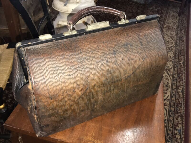 Antique Doctor's Bag with Key