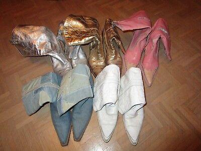 Western Buffalo weiß pink rosa Jeans gold silber 41 (Silber Cowboy-stiefel)