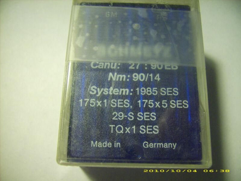 86 pc SCHMETZ sewing machine needles 1985 SES 175x1 SES Nm 90/14