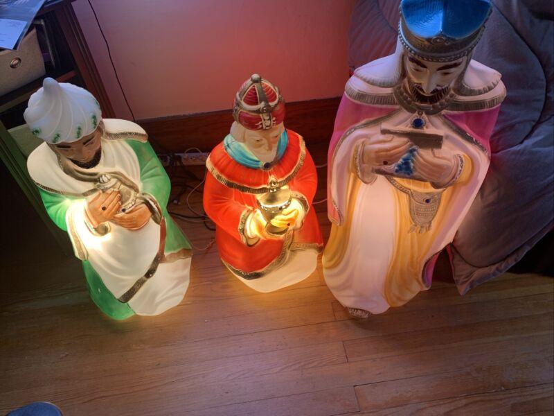 Empire Nativity Blow Mold Wise Man Christmas King Magi Men Vintage Yard Sitting