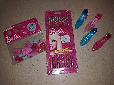 Barbie Party Favors School Supplies- 3D Erasers, Pencils, High Heels Sharpener - Barbie Party Favors