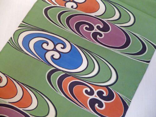 "#21  Japanese Silk Fabric Panel, Oval Circles, 61""  x  14"""