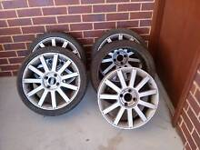Ford Fiesta XR4 Rims with Tyres x 4 (1 alloy damaged) Byford Serpentine Area Preview