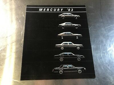 1983 Mercury Brochure Cougar Grand Marquis Capri LN7 Lynx Excellent Original - Mercury Ln7 Lynx