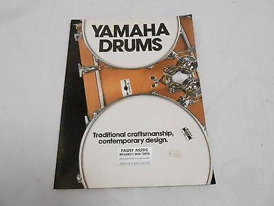VINTAGE MUSICAL INSTRUMENT CATALOG #10047 - (1970s) YAMAHA DRUMS