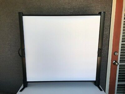 Da-lite 30x40 Fold Portable Projector Presenter Screen 50 Diag Wide Power Used