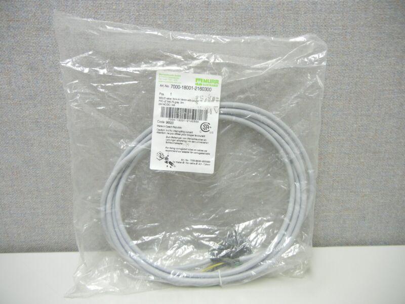 MURR ELEKTRONIK 7000-18001-2160300 NEW SOLENOID CONNECTOR/CABLE 7000180012160300