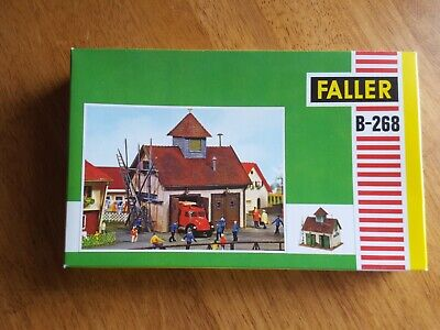 Vintage Faller B-268 Fire House Model Kit HO Trains Made in Germany
