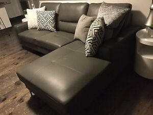 New genuine leather sectional