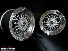 "18"" SILVER BBS RS STYLE WHEELS FOR 5X112 & 5X114.3! STAGGERED!!! Hurstville Hurstville Area Preview"