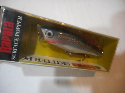 Rapala Skitter Pop 05 Fishing Lure Lime Frog LOT OF 2 TOPWATER POPPER CHUGGER