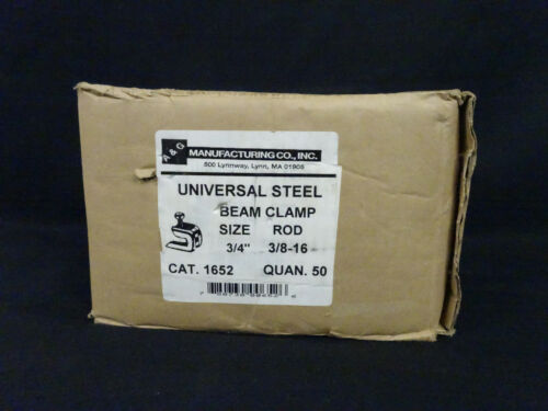 """Box of 50 A&G Universal steel beam clamp size 3/4"""" Rod 3/8-16 cat.1652"""