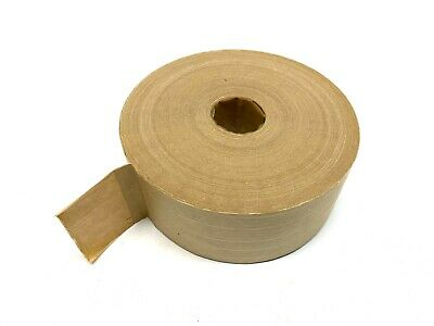 Heavy Duty Reinforced Kraft Paper Water Activated Gummed Tape 375 Length 2.5 W
