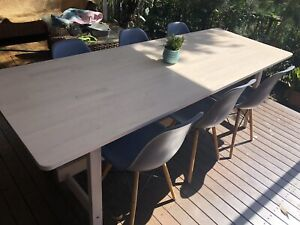 Scandi birch table and dining chairs!