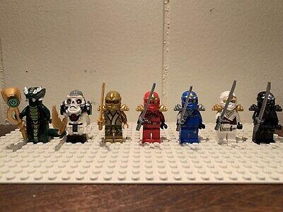 Lego Ninjago Minifigures Lot ZX Ninjas, Golden Ninja, Kruncha, Acidicus