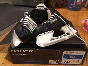 Bauer Nexus hockey skates, size 7, shoe size 8.5