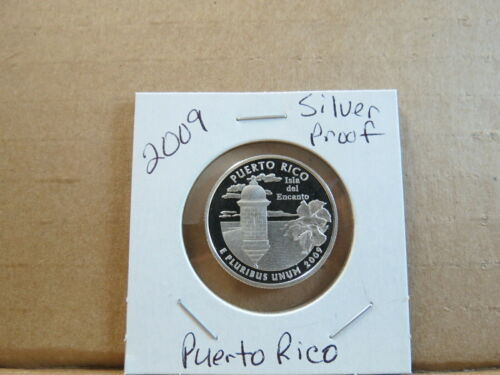 2009 S Silver Proof Puerto Rico Quarter US Territories